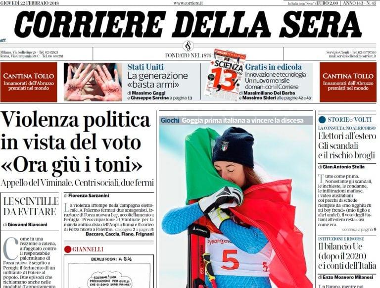 Download Corriere della Sera - 22.02.2018