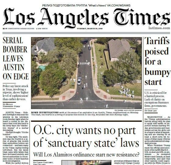 Los Angeles Times: 20.03.2018 PDF Download Free