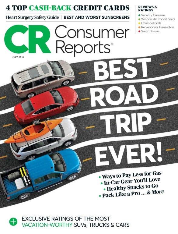 美国Consumer Reports消费者报告 7月.2018封面