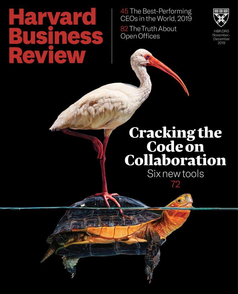 美国哈佛商业评论-Harvard Business Review USA 11月-12月.2019封面