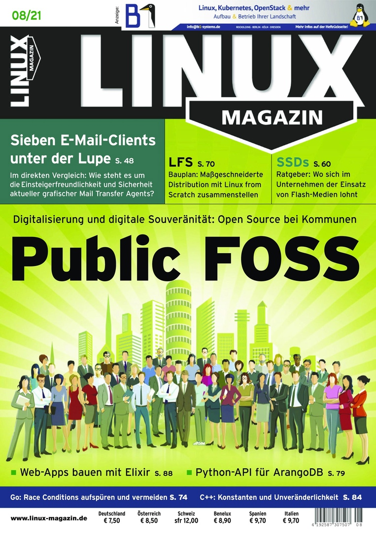 Linux Magazin germany - August 2021